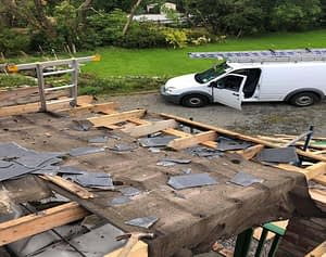Damaged Flat Roof to be Repaired