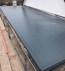a finished flat roof